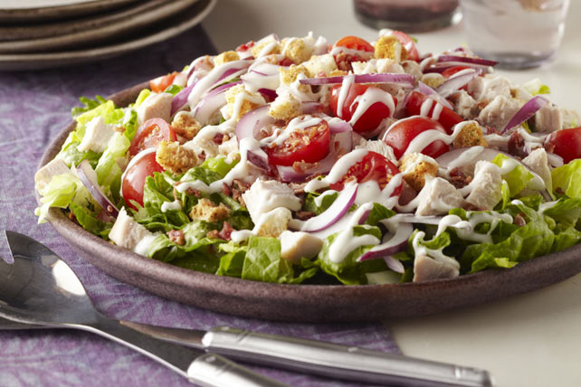 Layered Turkey BLT Salad Image 1