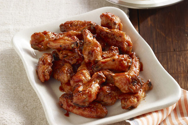 Crispy Baked Hot Wings and Dip Image 1