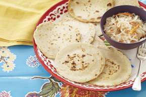 Pupusas with Pickled Cabbage