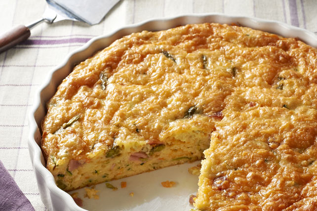 Crustless Vegetable & Ham Quiche Image 1
