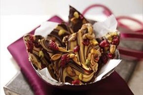 Chocolate-Peanut Butter Swirled Bark