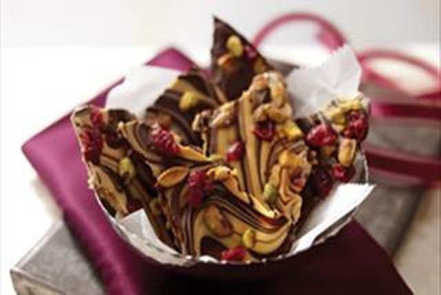 Chocolate-Peanut Butter Swirled Bark Image 1