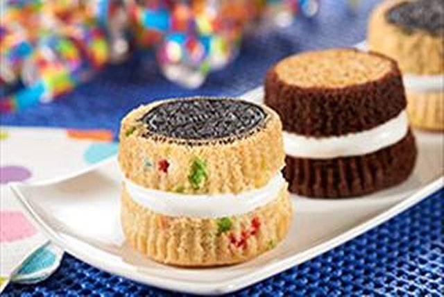 Golden Birthday Cake OREO Whoopie Pies Kraft Recipes