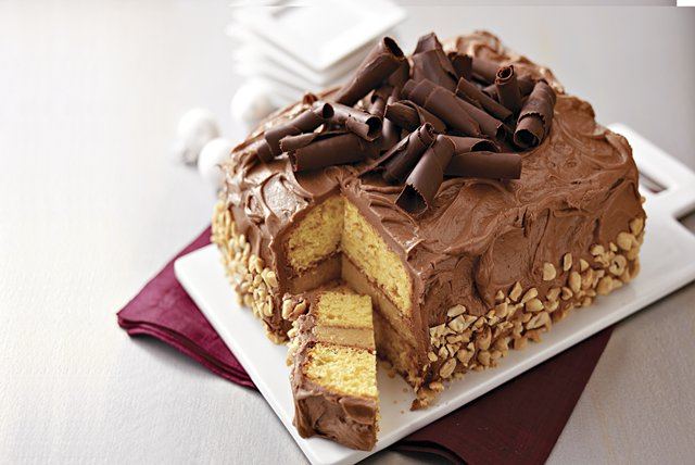 Stunning Peanut Butter-Chocolate Layer Cake Image 1
