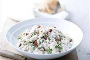 Bacon and Sweet Pea Risotto
