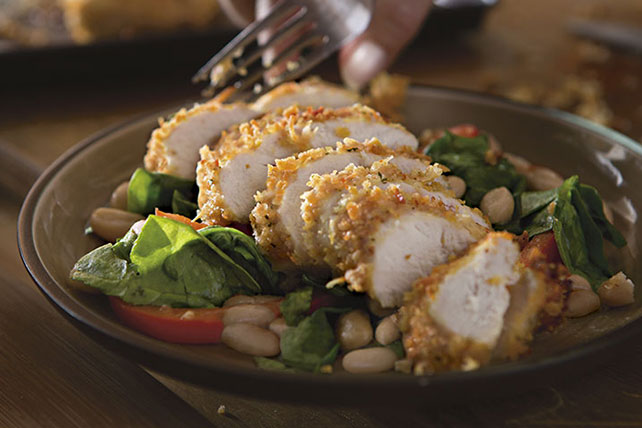 Italian Parmesan Chicken with Tuscan Spinach Salad Image 1