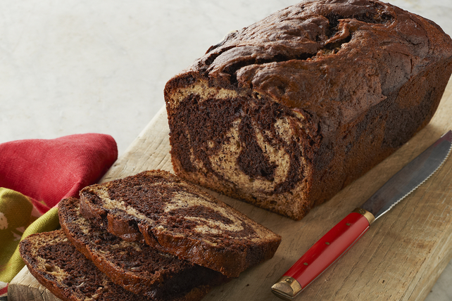Chocolate-Marbled Banana Bread Image 1