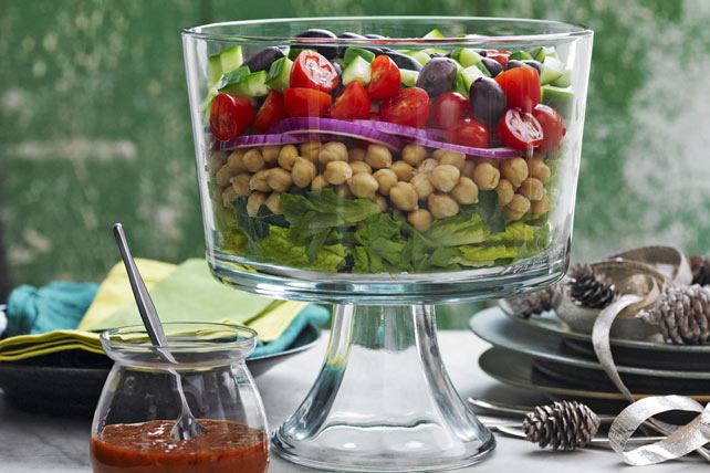 Layered Mediterranean Salad Image 1