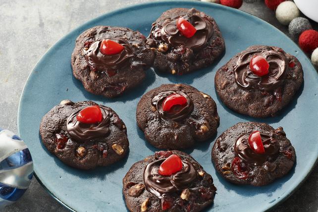 Biscuits Volcan aux cerises et au chocolat  Image 1