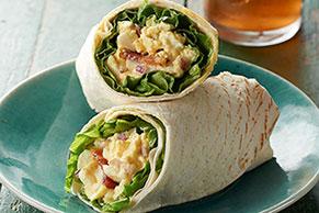BLT Egg Salad Wraps