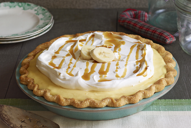Bourbon Caramel-Banana Cream Pie Image 1