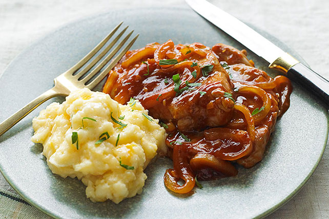 Quick BBQ Pork & Cheesy Potatoes Image 1