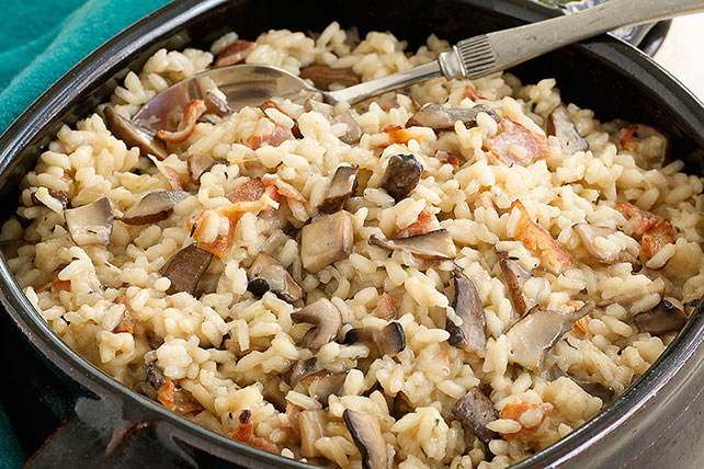 Oven-Baked Mushroom & Bacon Risotto Image 1
