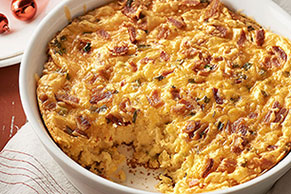Bacon-Cheddar Corn Pudding
