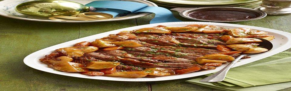 Pecho de res al horno con salsa para asar Image 1