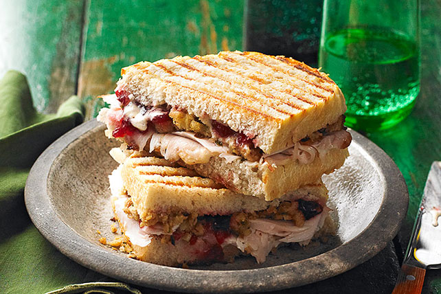 Leftover Turkey & Stuffing Panini Image 1