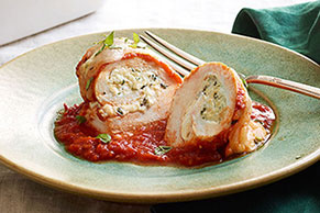 Tomato-Basil Chicken Roll-Ups