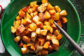 Roasted Sweet Potatoes & Pineapple