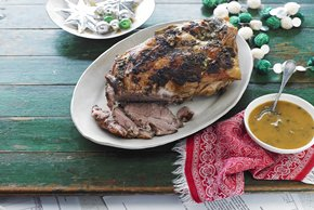 Roast Pork with Garlic-Caper Sauce