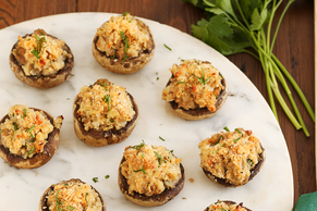Double-Cheese Stuffed Mushrooms