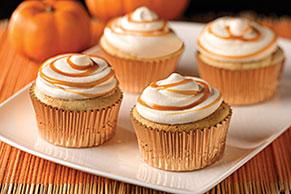 Caramel-Pumpkin Cream Cupcakes