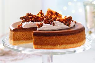 Pumpkin Spice Latte Cheesecake with Pumpkin Seed Brittle