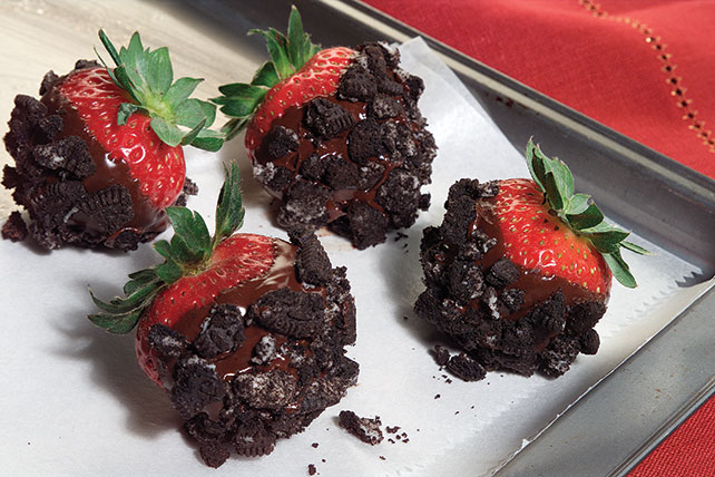 Fresas rellenas de doble chocolate
