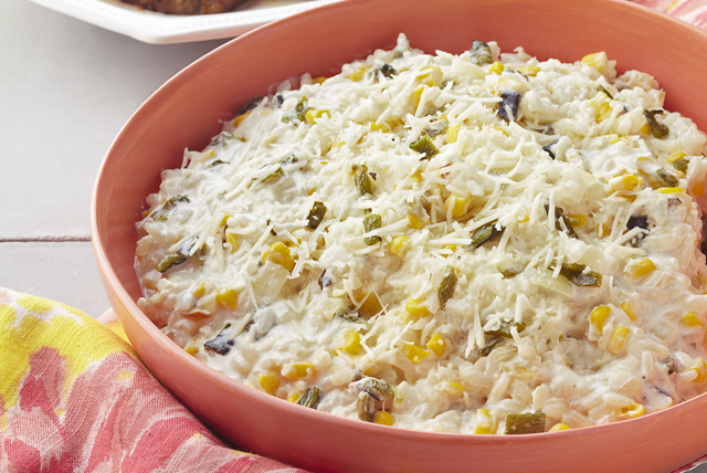Creamy Poblano Rice with Corn