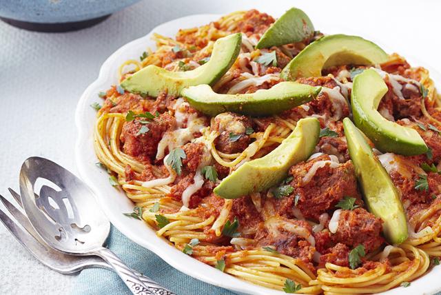 Espagueti en picante salsa de chorizo y tomate Image 1