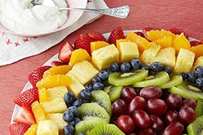 Radiante ensalada de frutas