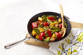 Sesame-Pineapple Chicken Stir-Fry