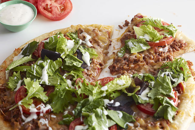 Salad-Topped Taco Pizza Image 1