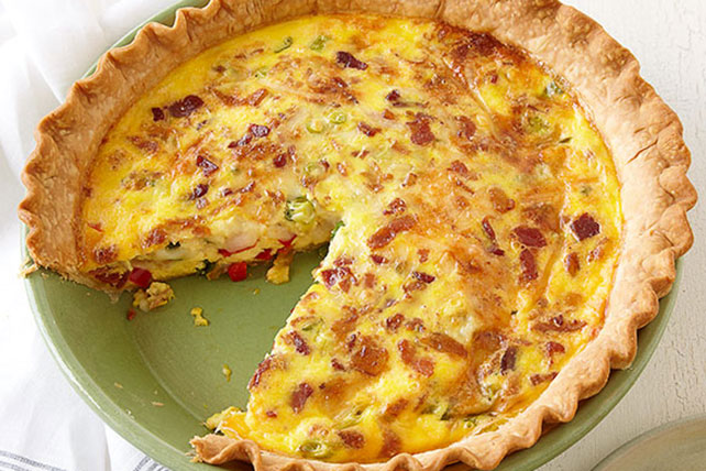 Cheese & Bacon Quiche Image 1