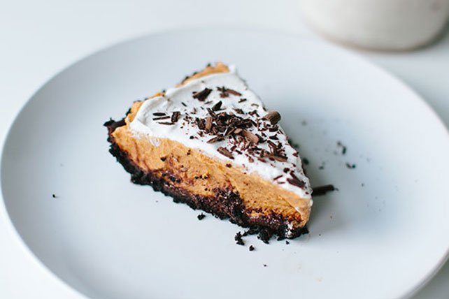 No-Bake Chocolate Pumpkin Pie Image 1