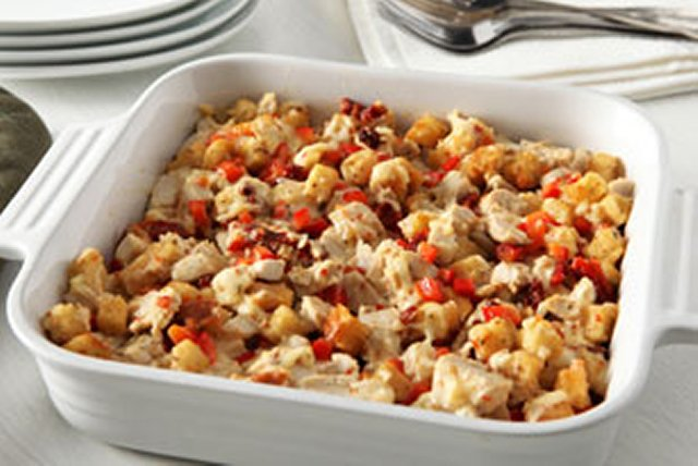 Sun-Dried Tomato-Chicken Casserole