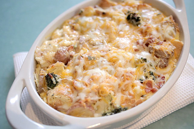 Bacon & Potato Strata