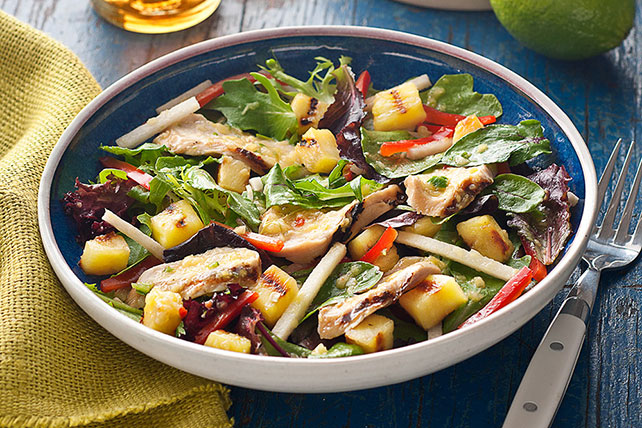 BBQ Grilled Chicken & Pineapple Salad Image 1