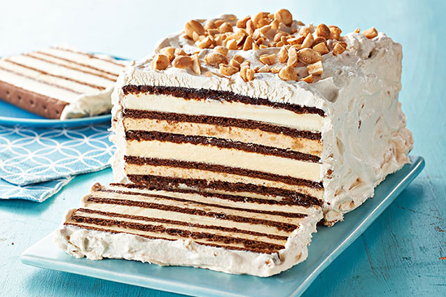 Chocolate-Peanut Butter Ice Cream Sandwich Cake Image 1