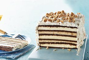 Chocolate-Peanut Butter Ice Cream Sandwich Cake
