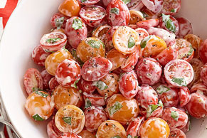 Cherry Tomato & Basil Salad