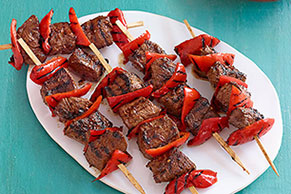 Beef & Red Pepper Kabobs