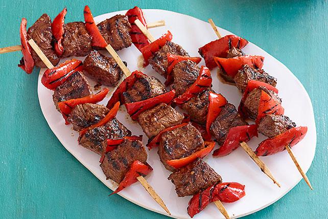 Brochetas de carne de res y pimiento rojo Image 1