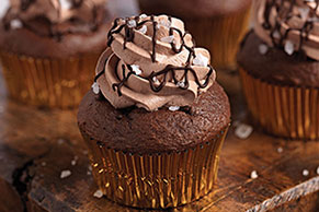 Chocolate Salted-Caramel Cupcakes