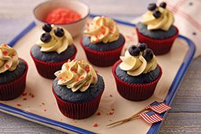 Sparkling Blue Velvet Cupcakes