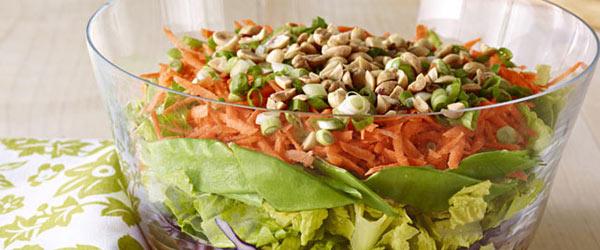 Salade étagée à l'orientale