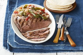 Grilled Flank Steak & Vegetable Trio