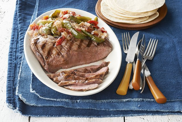 Grilled Flank Steak & Vegetable Trio Image 1