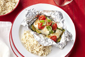 Grilled Fish & Vegetable Packets