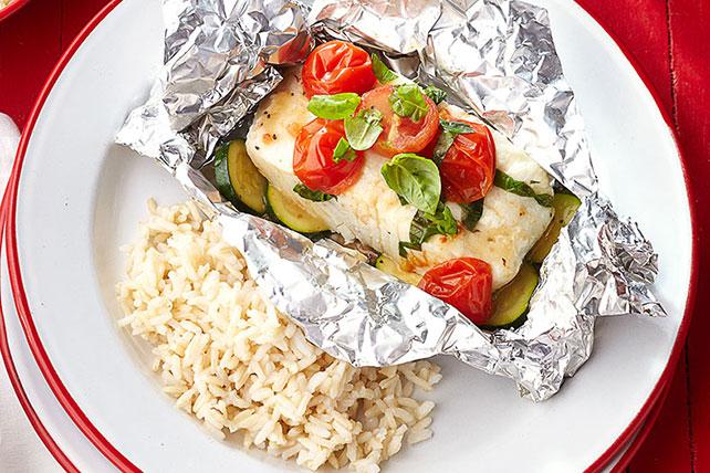 Paquetitos de pescado y verduras Image 1