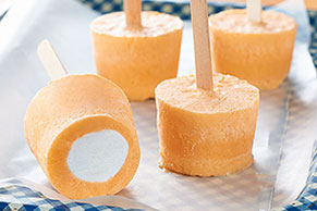 Orange-Marshmallow Pops